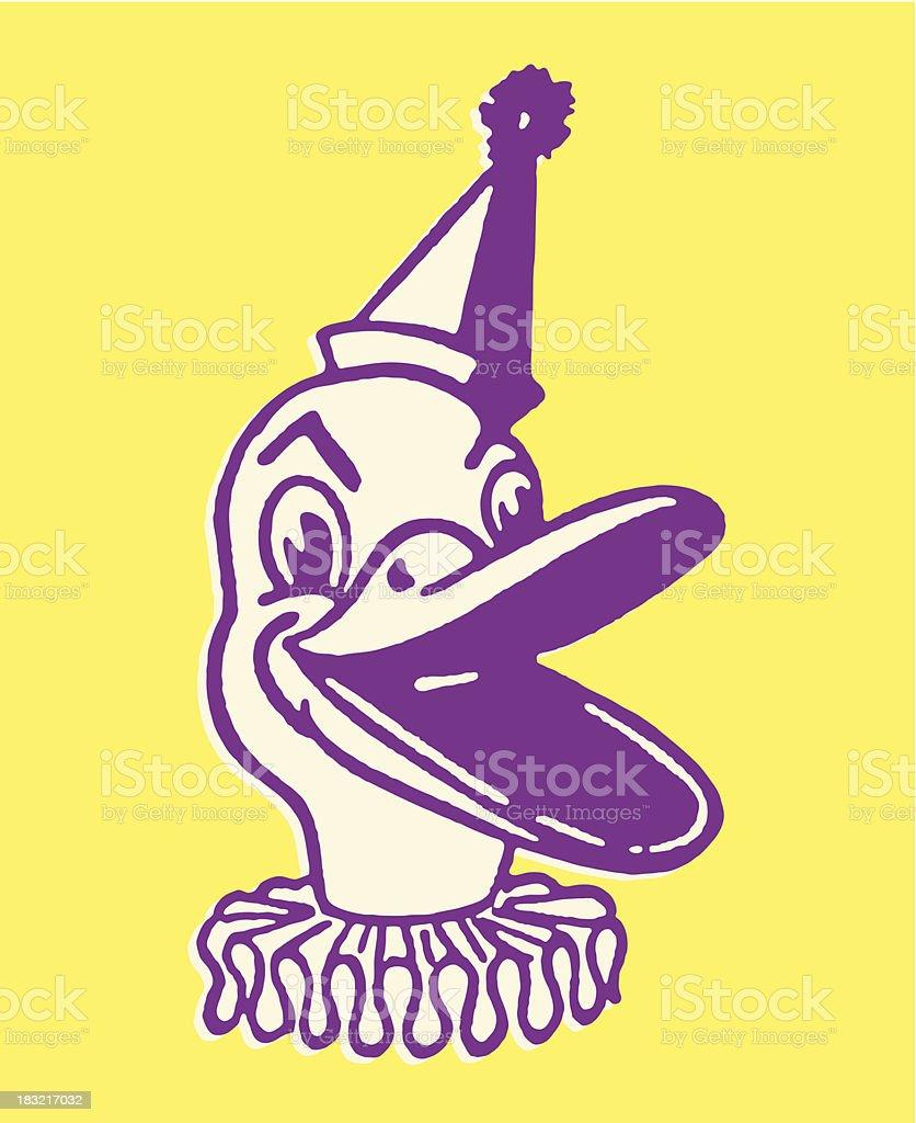 Duck Clown royalty-free stock vector art