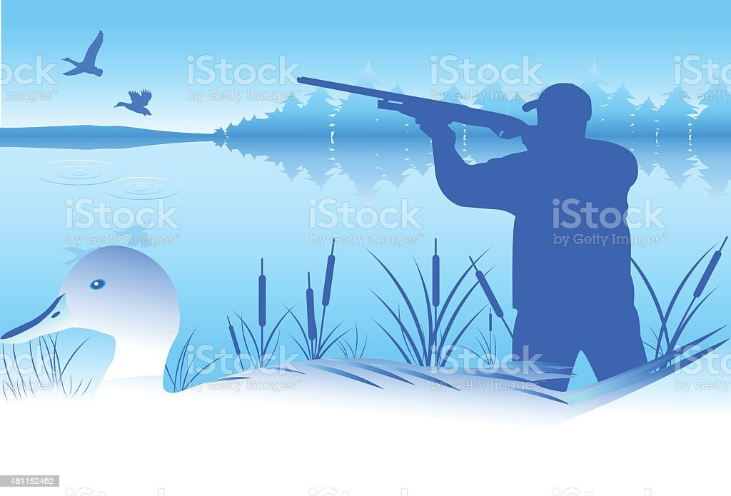 Duck Hunt vector vector art illustration
