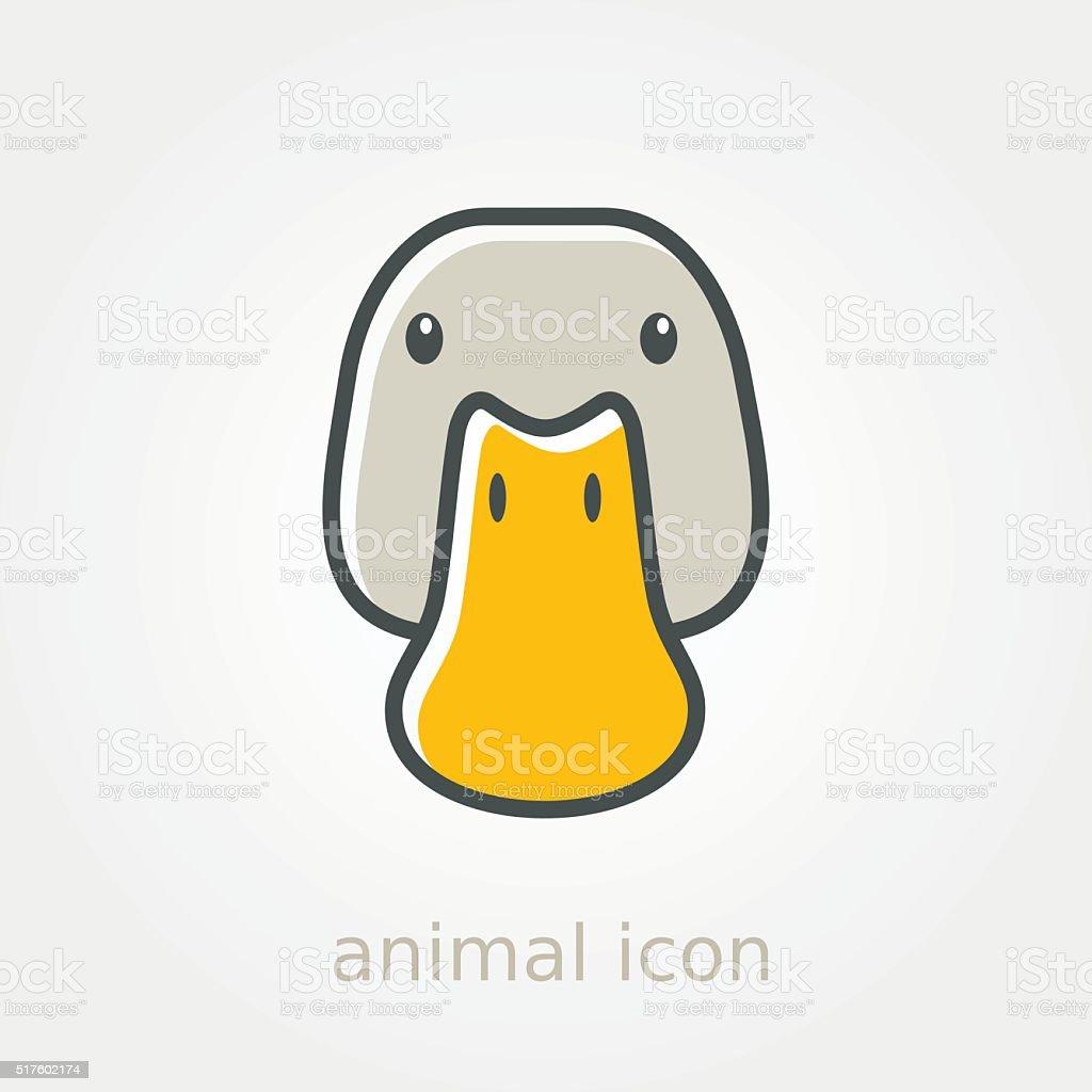 Duck icon. Farm animal vector illustration vector art illustration
