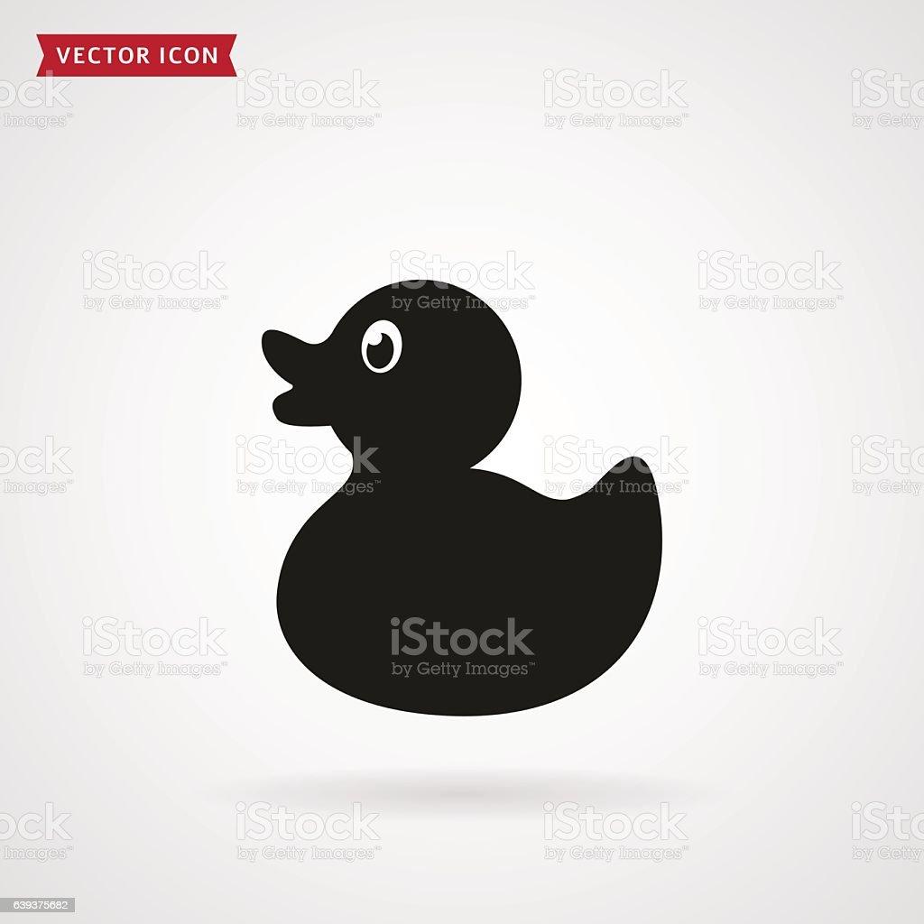 Duck icon. vector art illustration