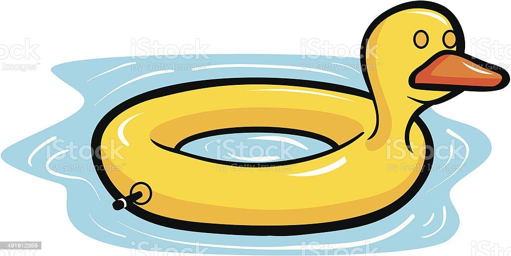 Duck Pool Float vector art illustration