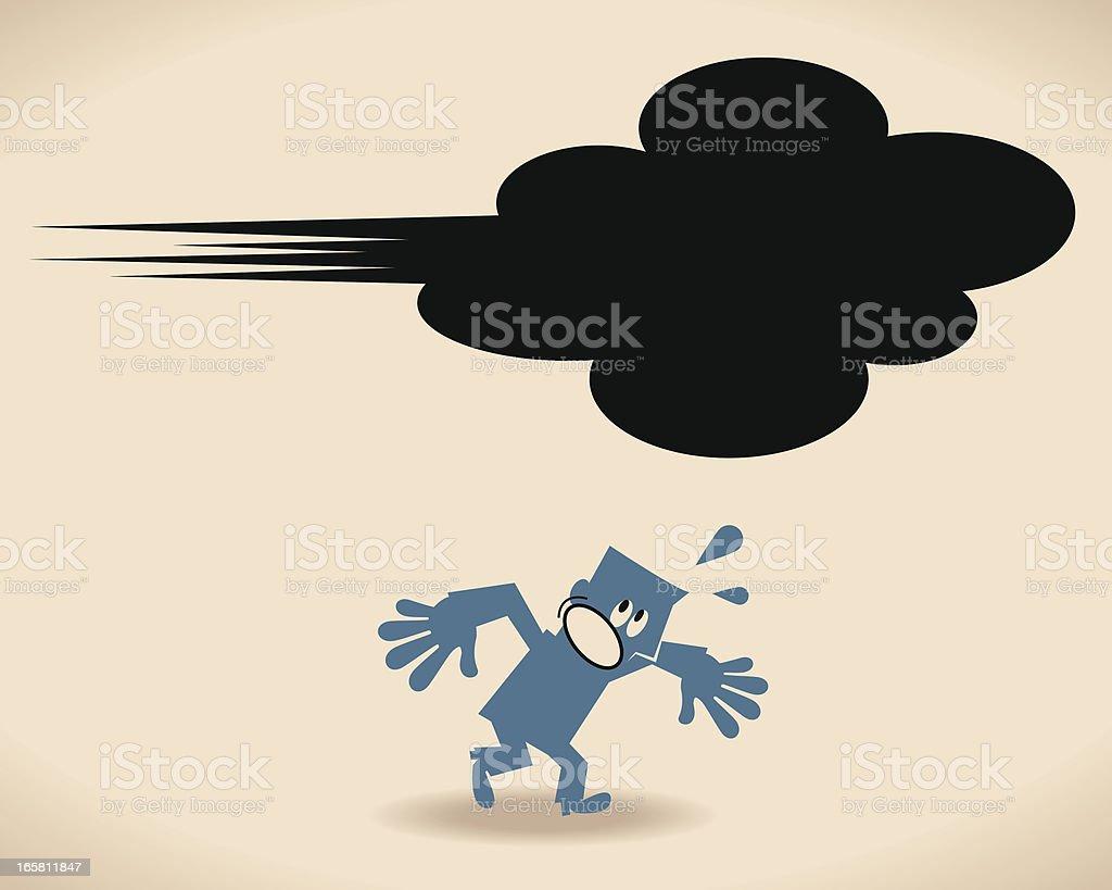 Ducking vector art illustration
