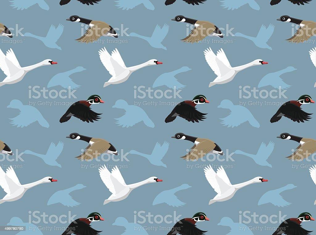 Ducks Wallpaper 1 vector art illustration