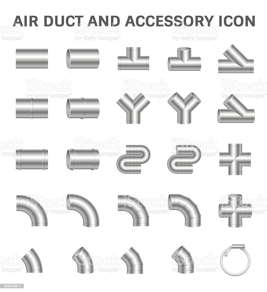 Duct Pipe Icon vector art illustration