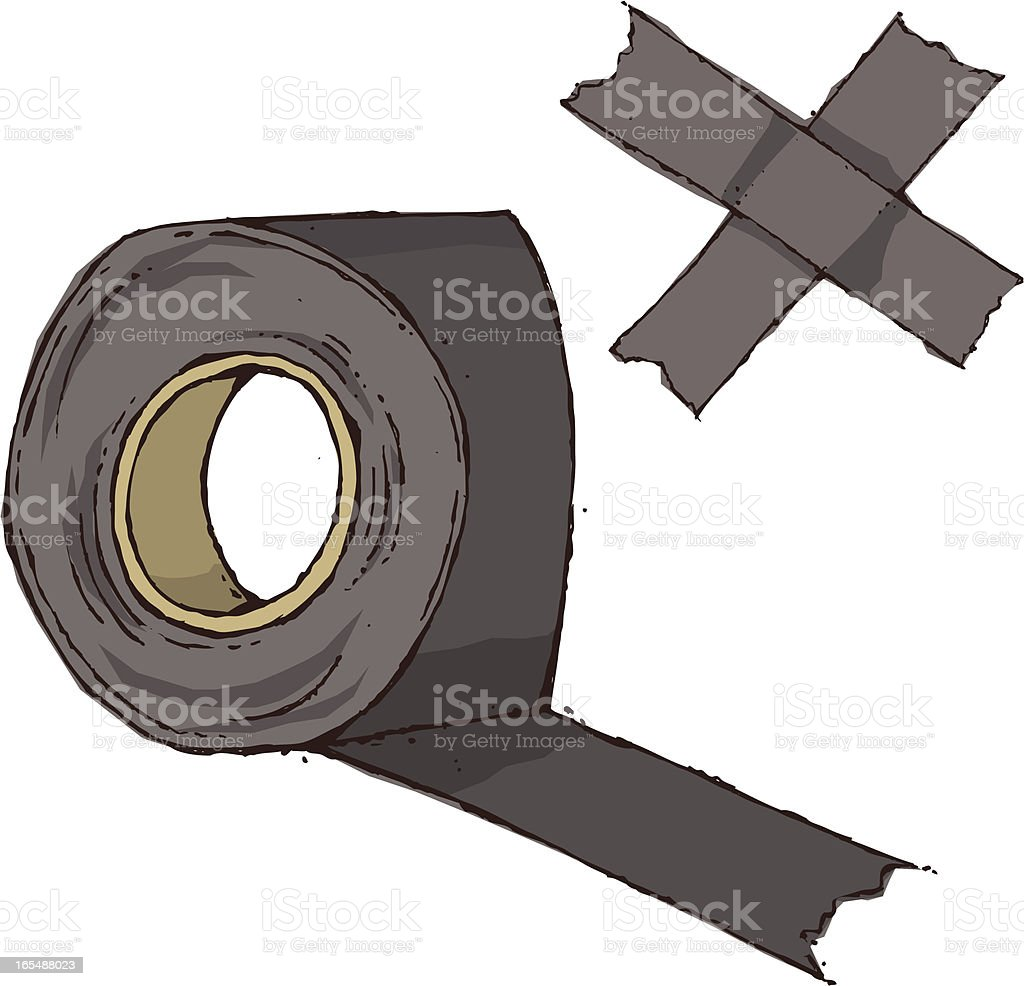 Duct Tape royalty-free stock vector art