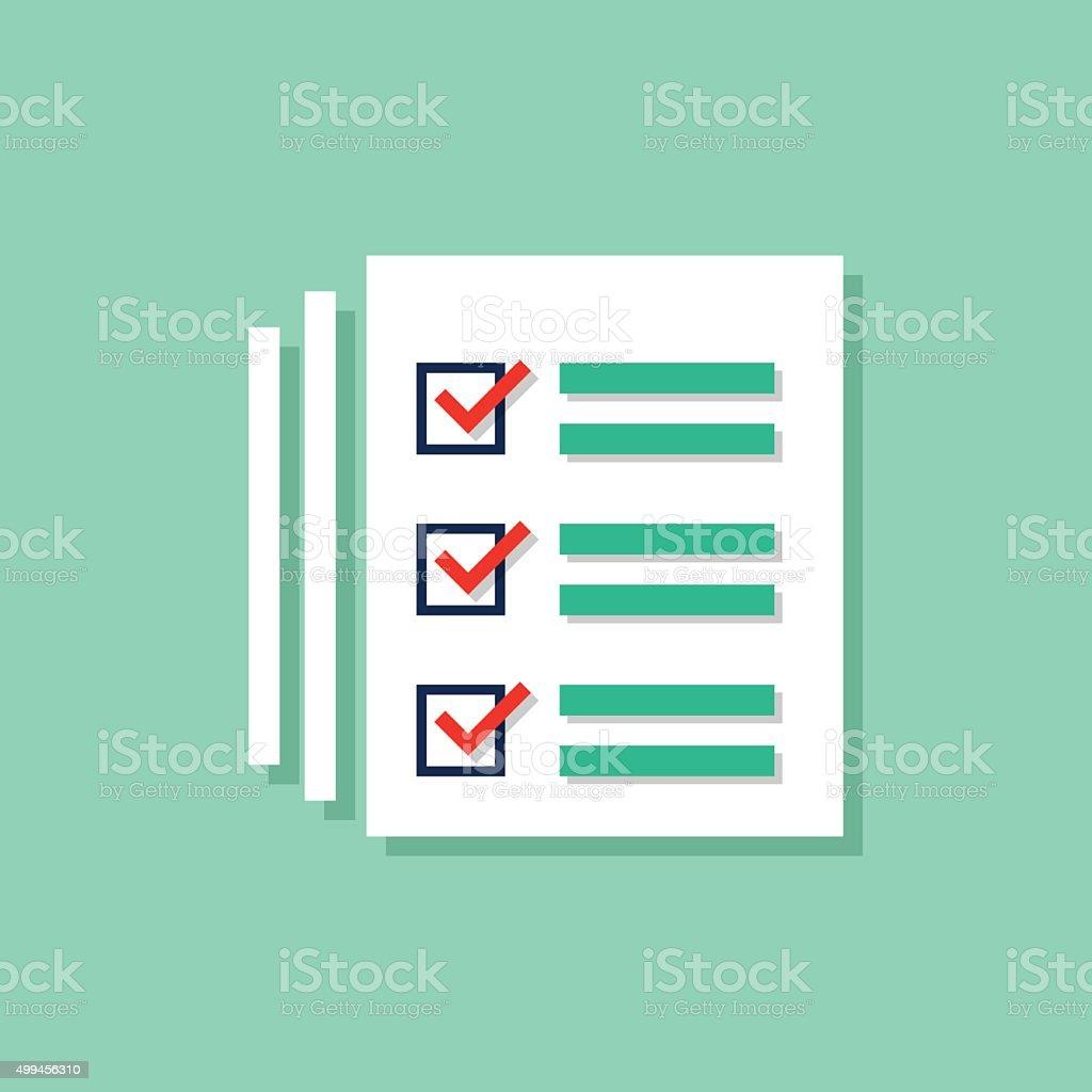 Ducument list icon -VECTOR vector art illustration
