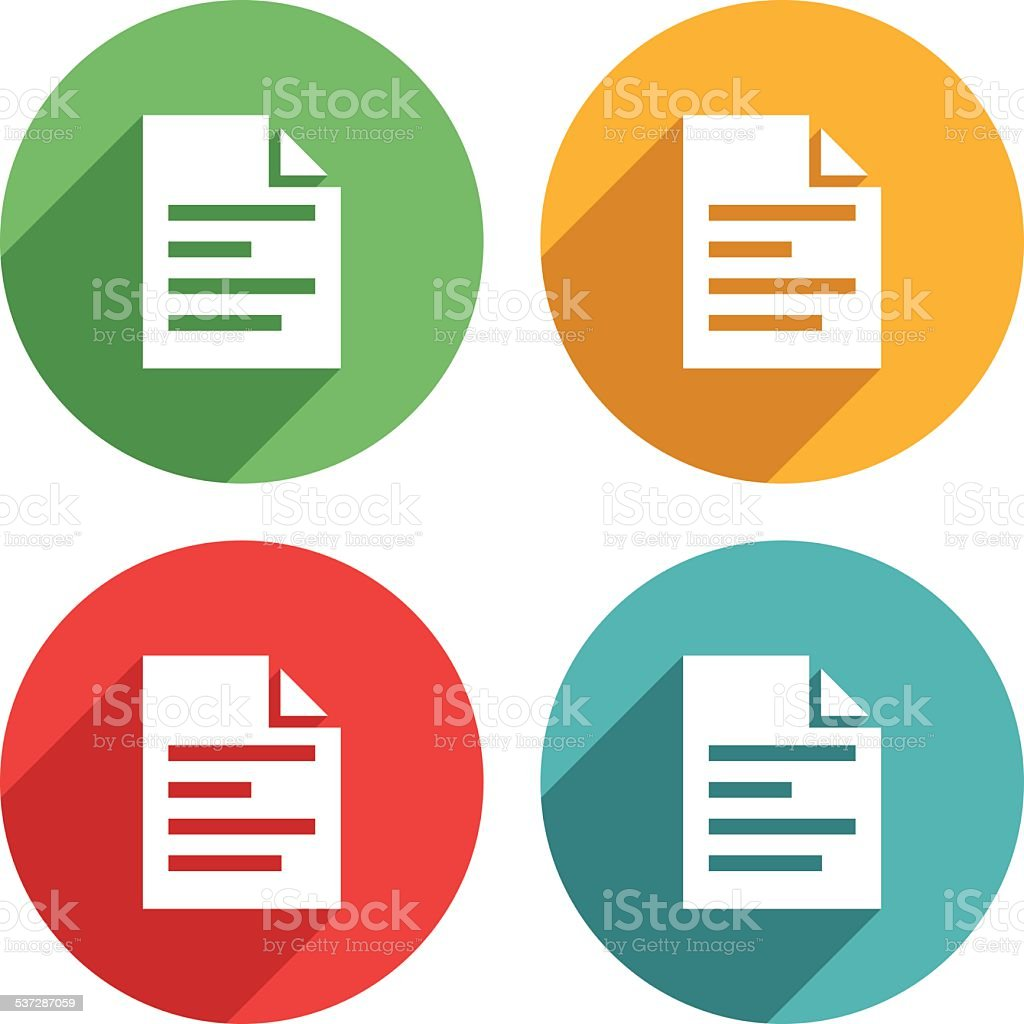 Ducument list icons -VECTOR vector art illustration