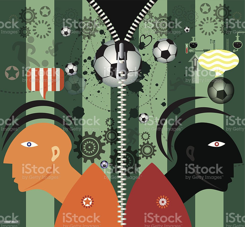 Duel with Zipper royalty-free stock vector art