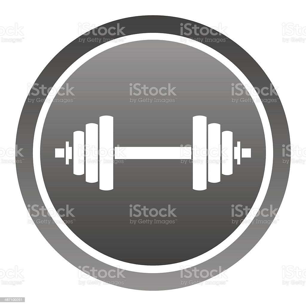 Dumbbell Icon royalty-free stock vector art