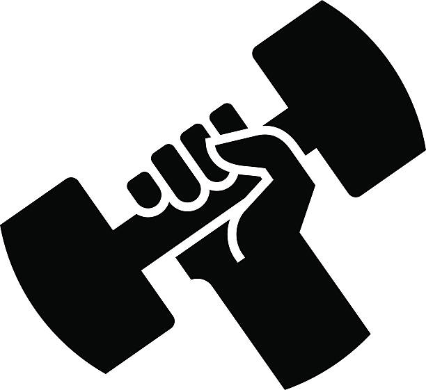 Dumbbell Icon Vector Weightlifting C...