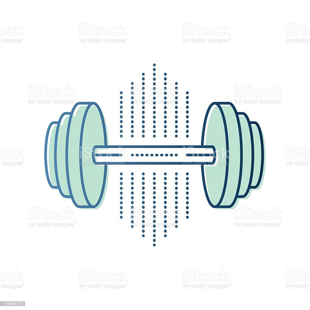 Dumbbell Symbol vector art illustration