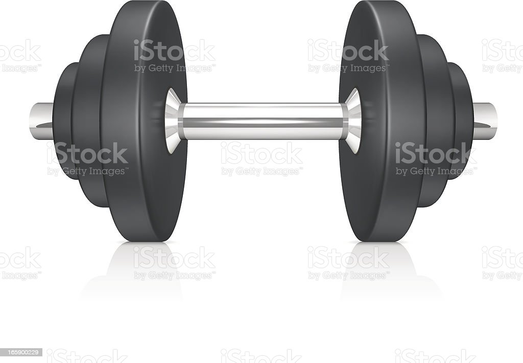 Dumbbell royalty-free stock vector art