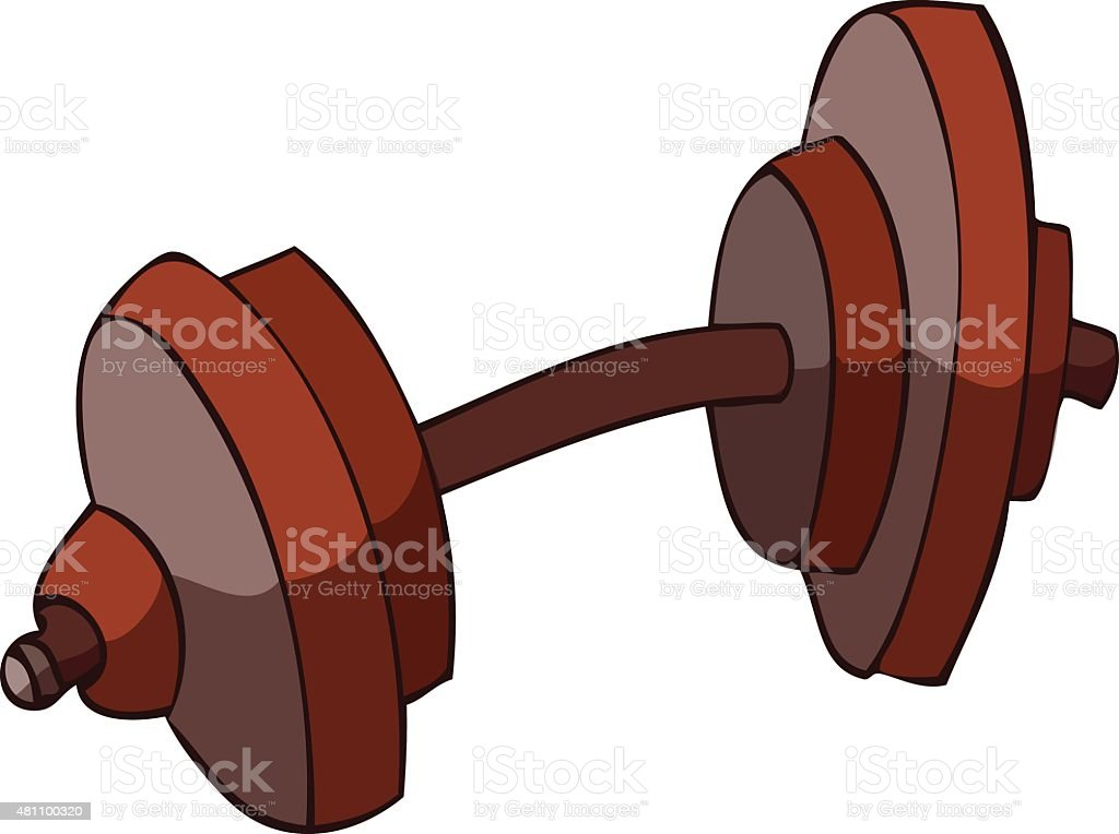 Dumbbell Vector Illustration. vector art illustration