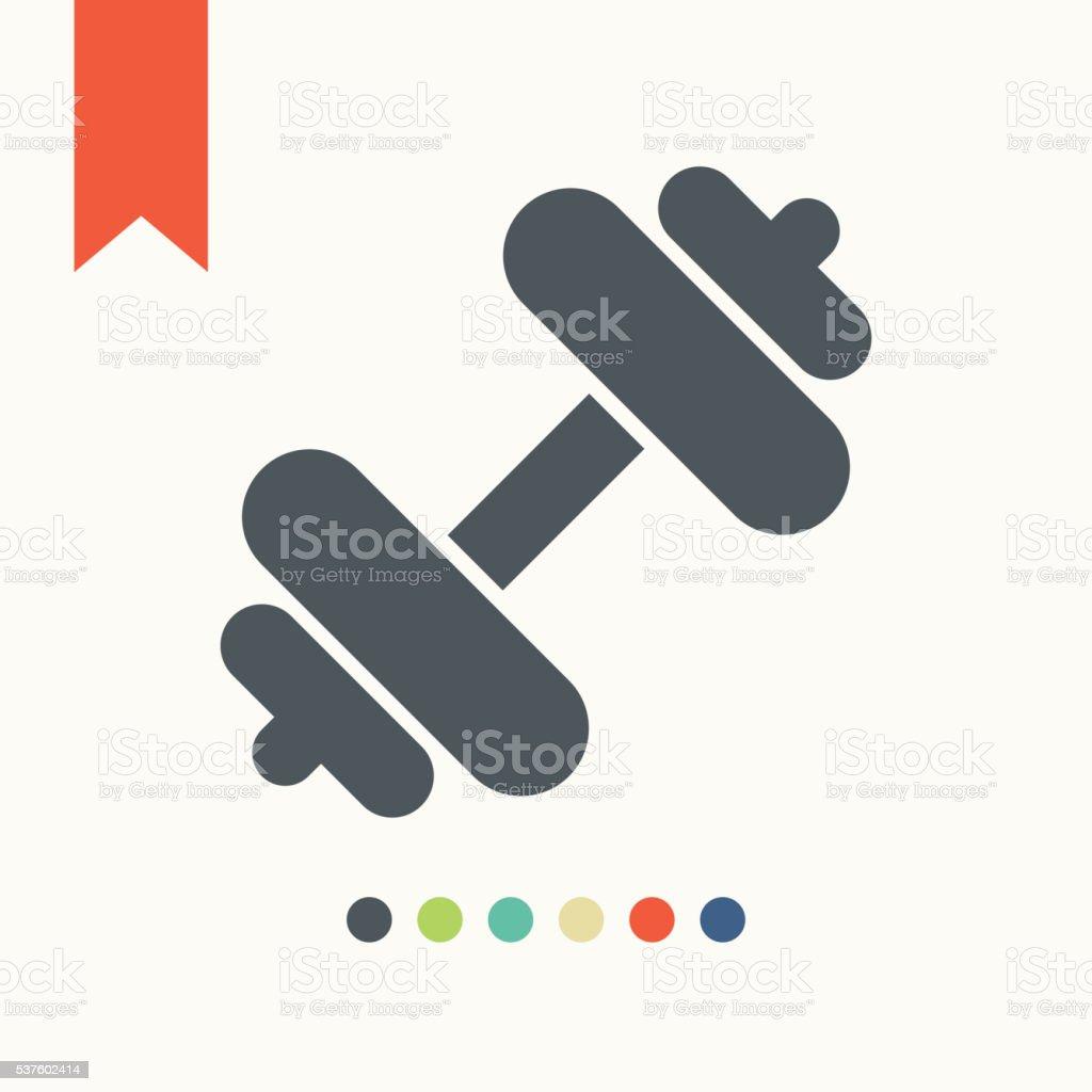 Dumbbells icon vector art illustration