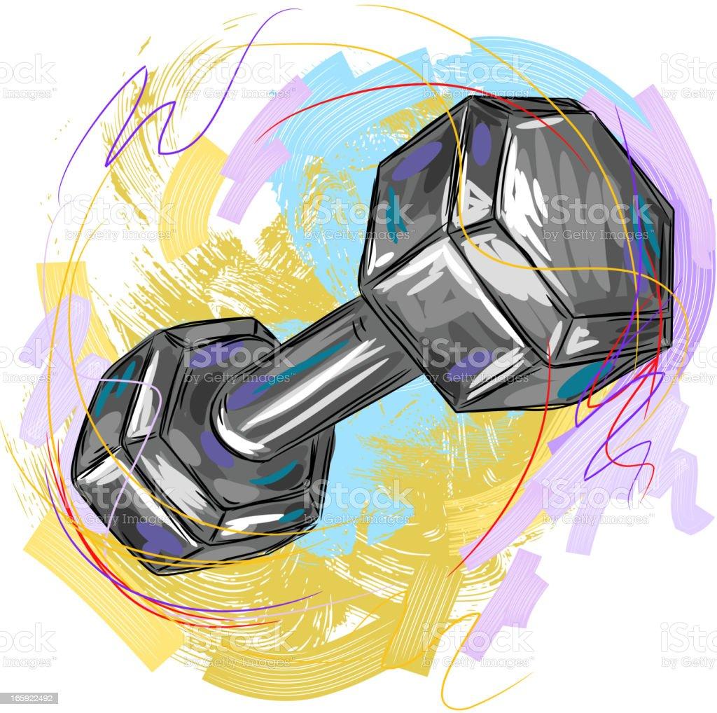 Dumbell royalty-free stock vector art
