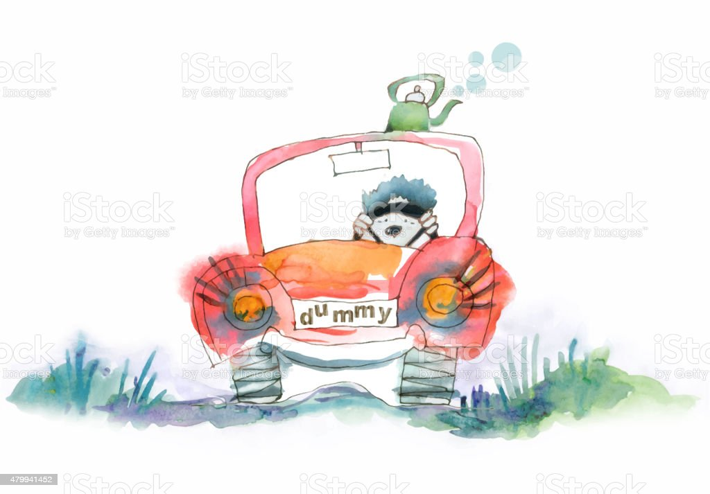Dummy car driver. vector art illustration