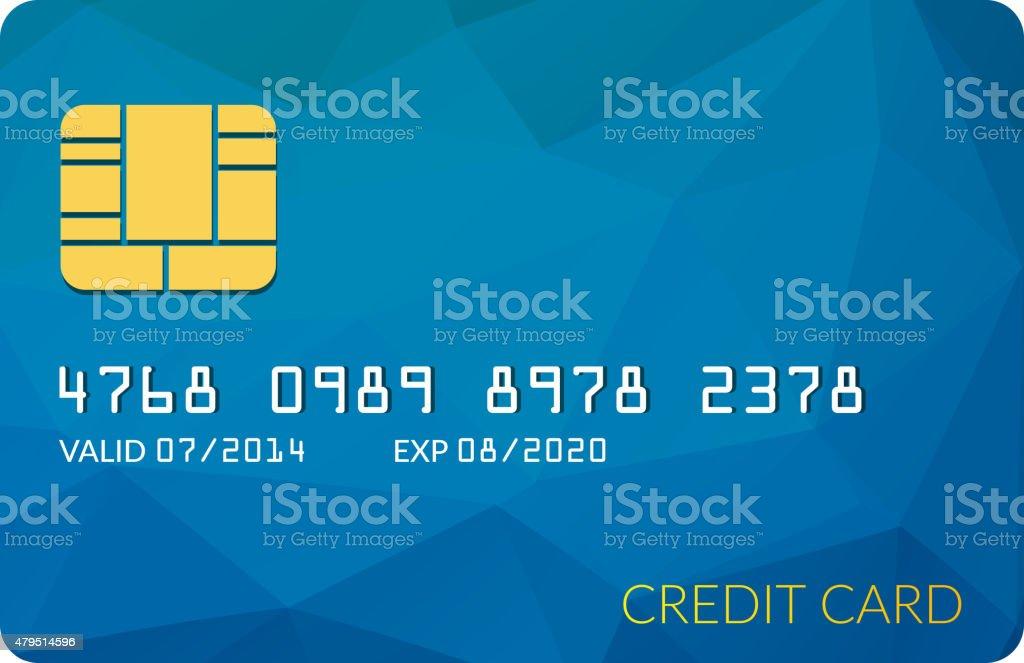 Dummy Credit Card vector art illustration