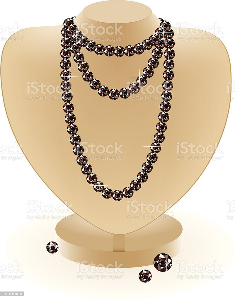 dummy with beads royalty-free stock vector art