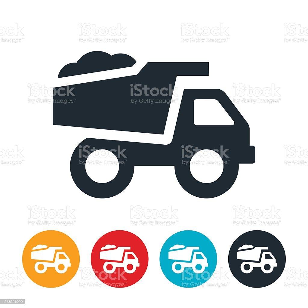 Dump Truck Icon vector art illustration