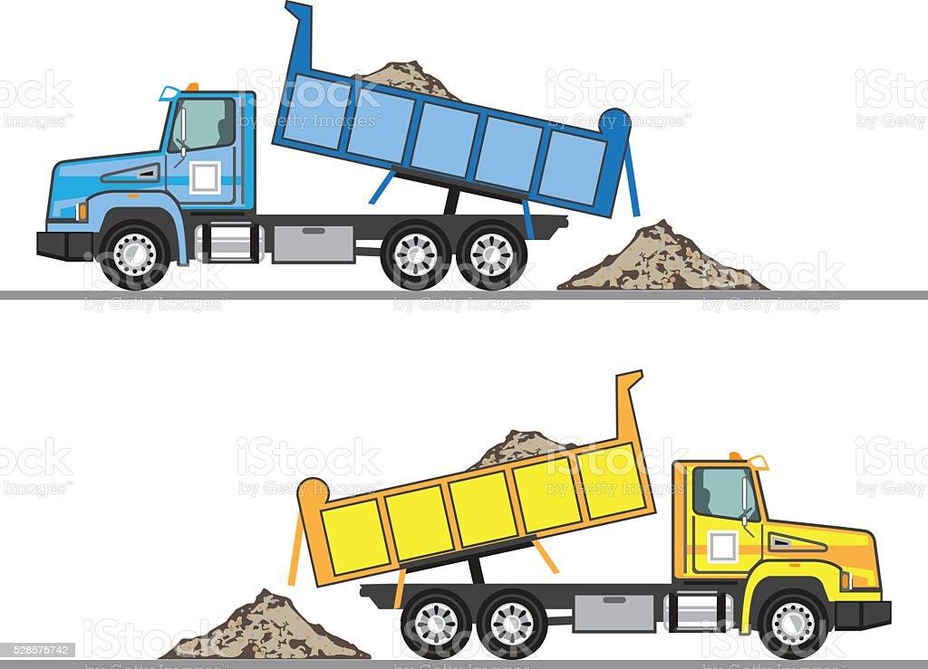 Dump Truck vector eps file vector art illustration