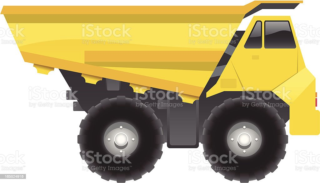 Dump Truck vector art illustration