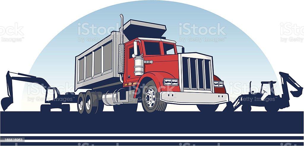 Dump Truck vector art illustration