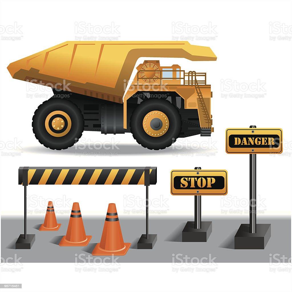 Dump Truck royalty-free stock vector art
