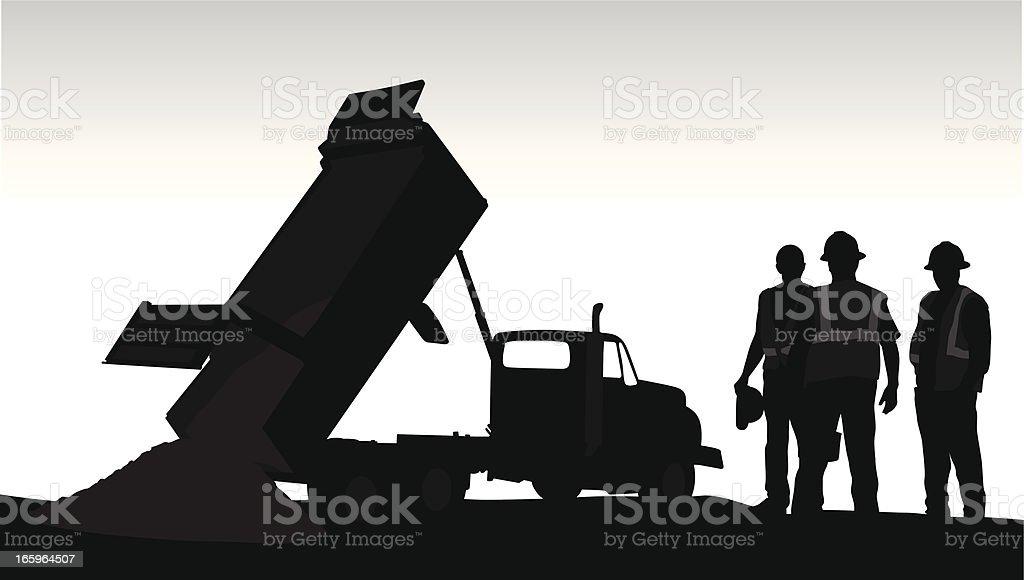 Dumping Vector Silhouette vector art illustration