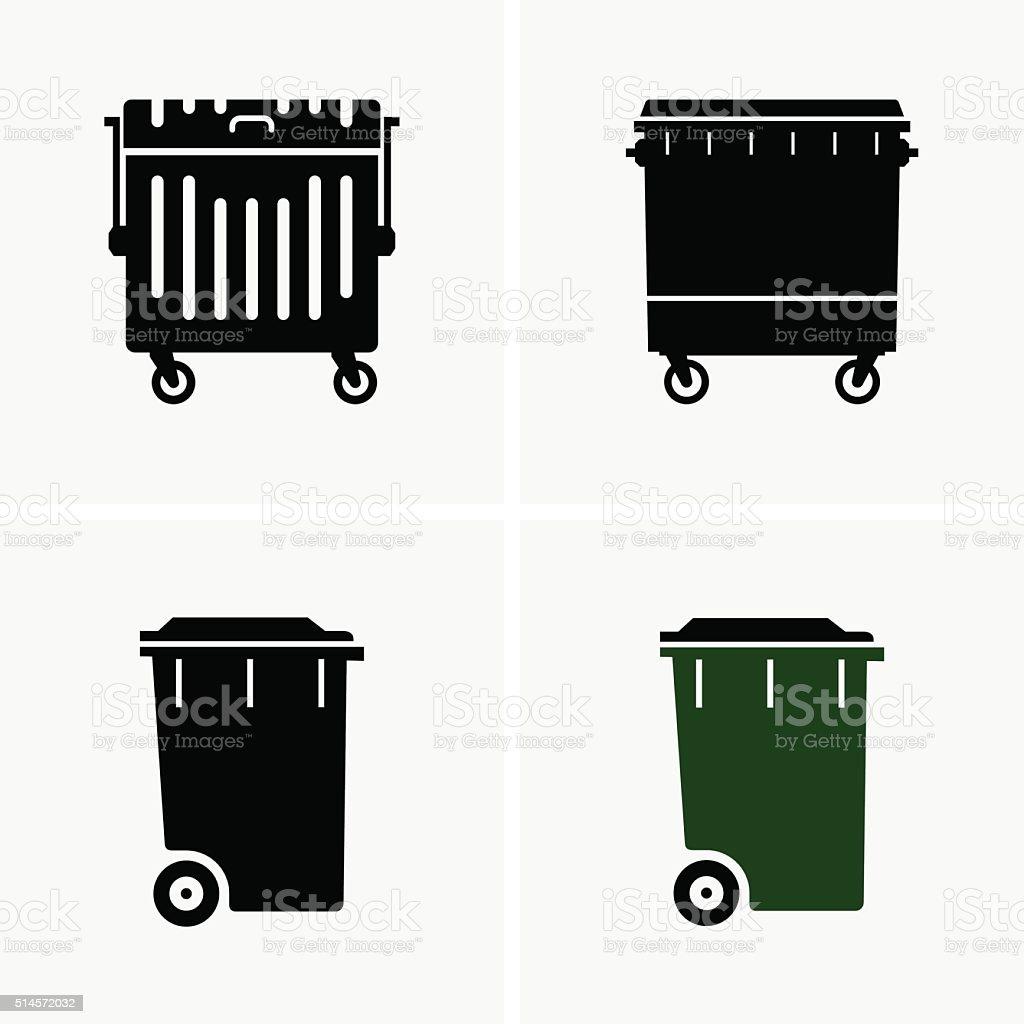 Dumpster vector art illustration