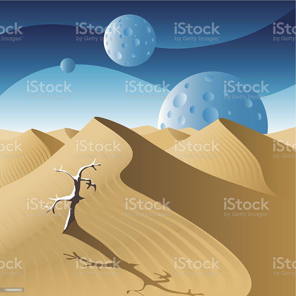 Dunes vector art illustration