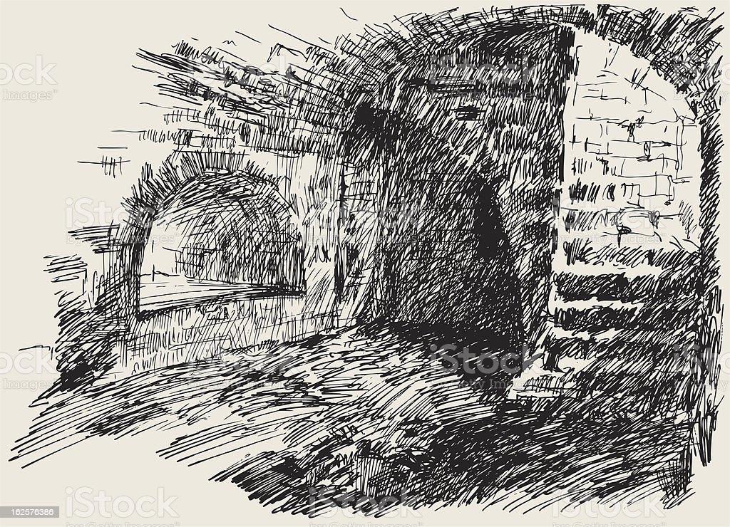 dungeon vector art illustration