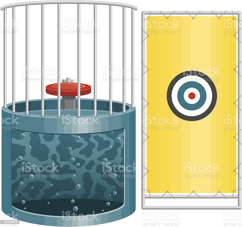 Dunk Tank vector art illustration