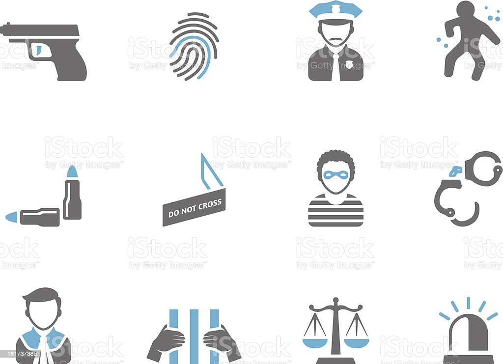 Duo Tone Icons - Crime royalty-free stock vector art