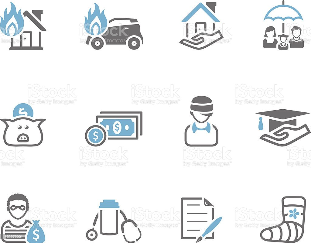 Duo Tone Icons - Insurance royalty-free stock vector art