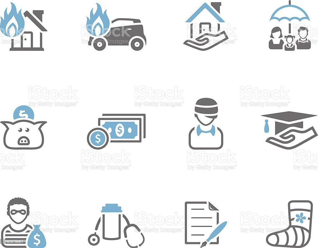 Duo Tone Icons - Insurance vector art illustration
