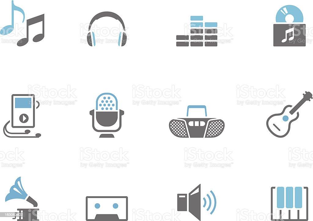 Duo Tone Icons - Music vector art illustration