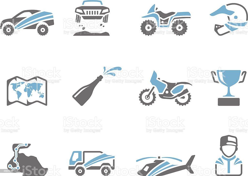 Duo Tone Icons - Rally royalty-free stock vector art