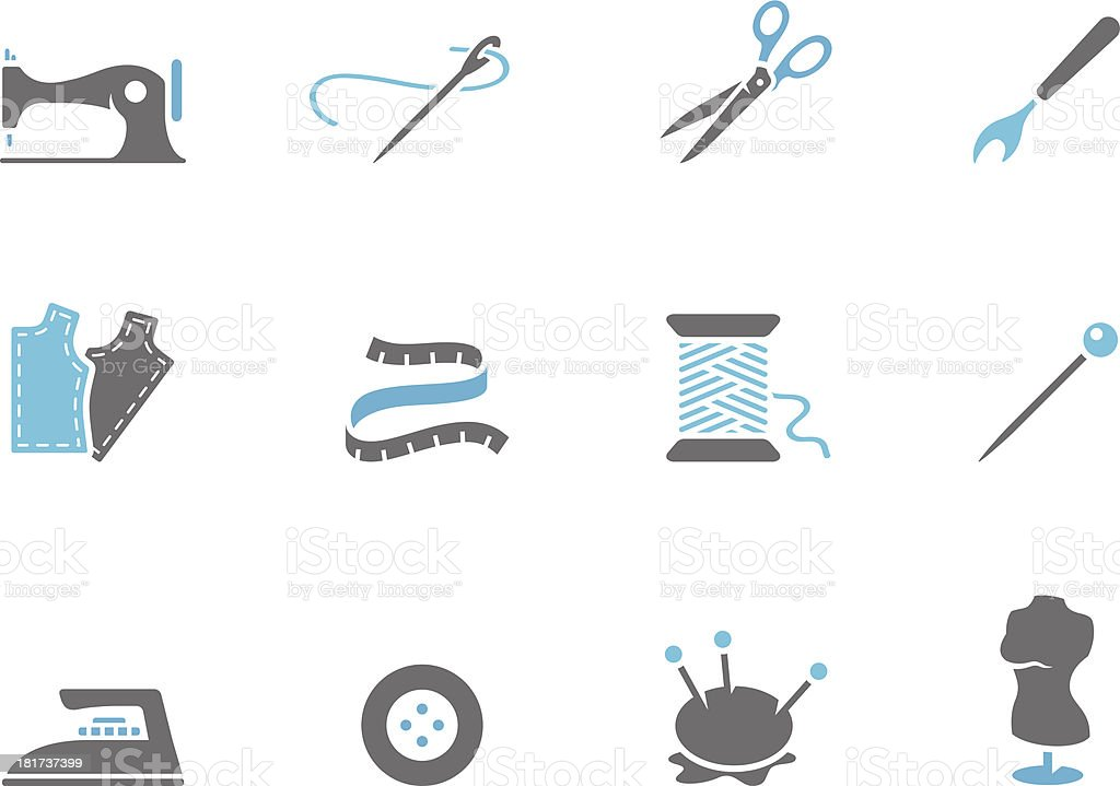 Duo Tone Icons - Sewing vector art illustration