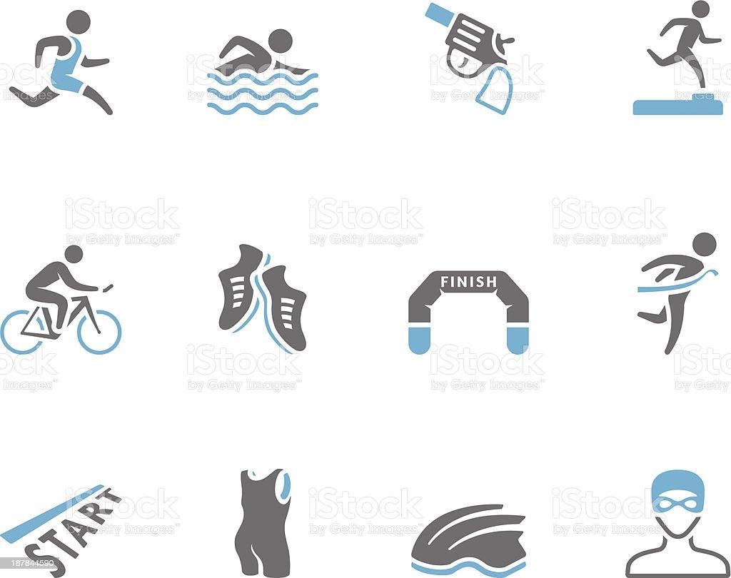 Duo Tone Icons - Triathlon royalty-free stock vector art