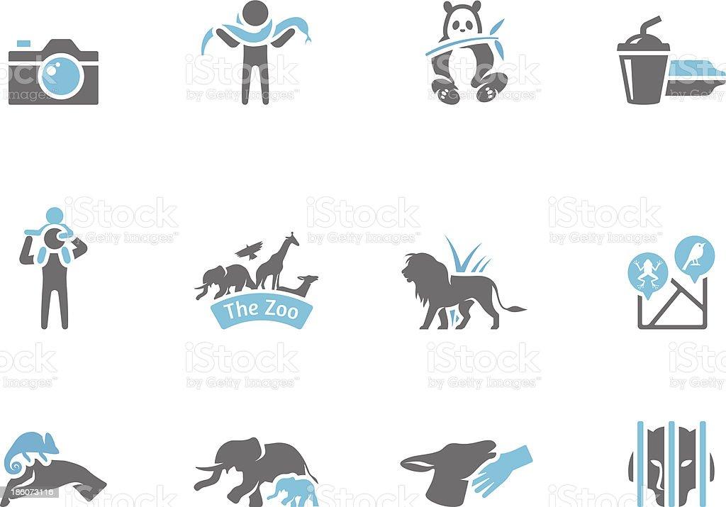 Duo Tone Icons - Zoo royalty-free stock vector art