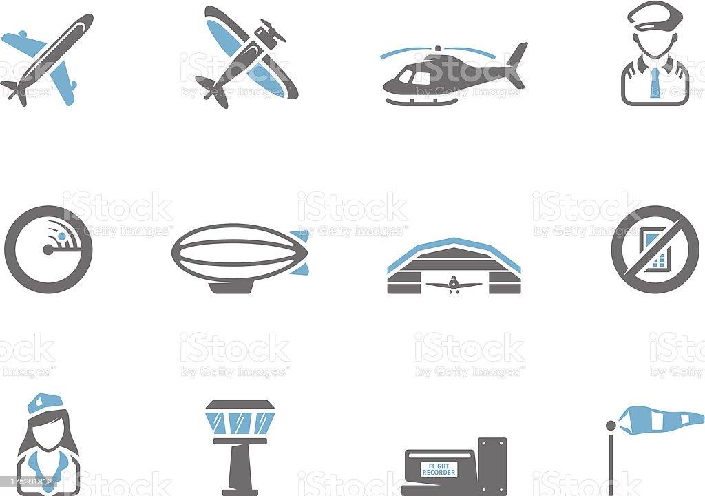 Duotone Icons - Aviation vector art illustration