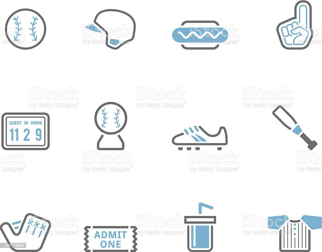 Duotone Icons -  Baseball royalty-free stock vector art