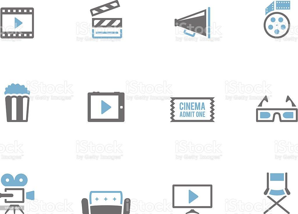 Duotone Icons - Cinema vector art illustration