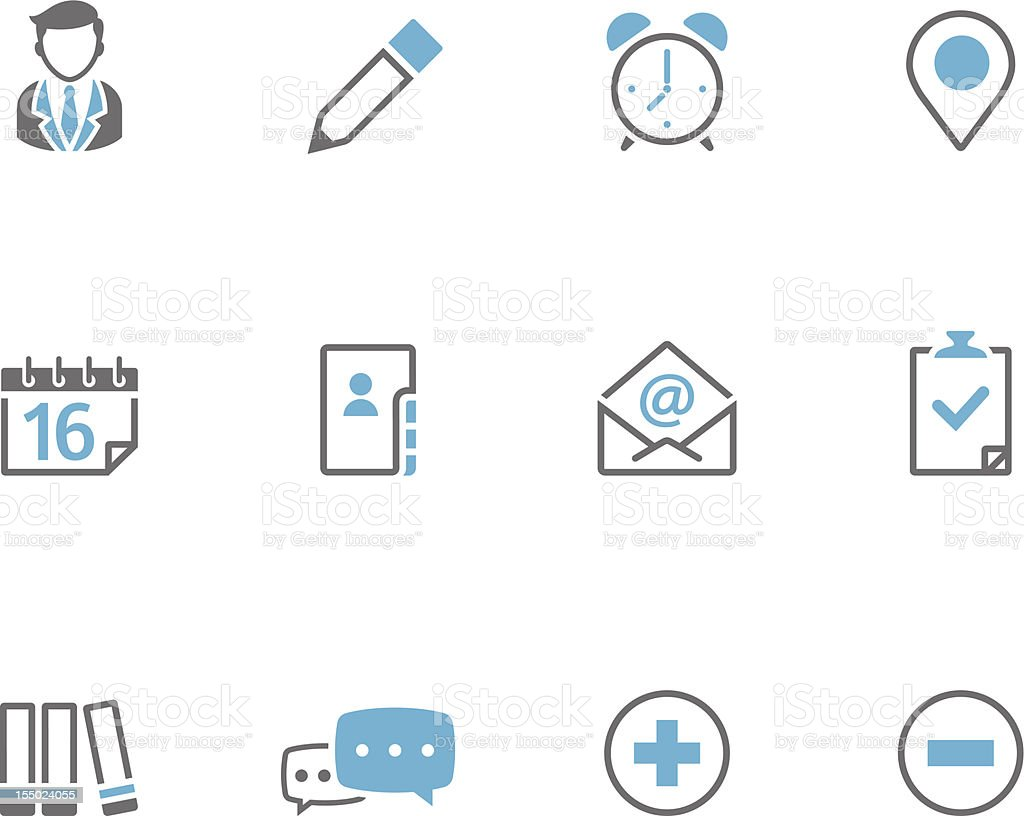 Duotone Icons - Collaboration royalty-free stock vector art