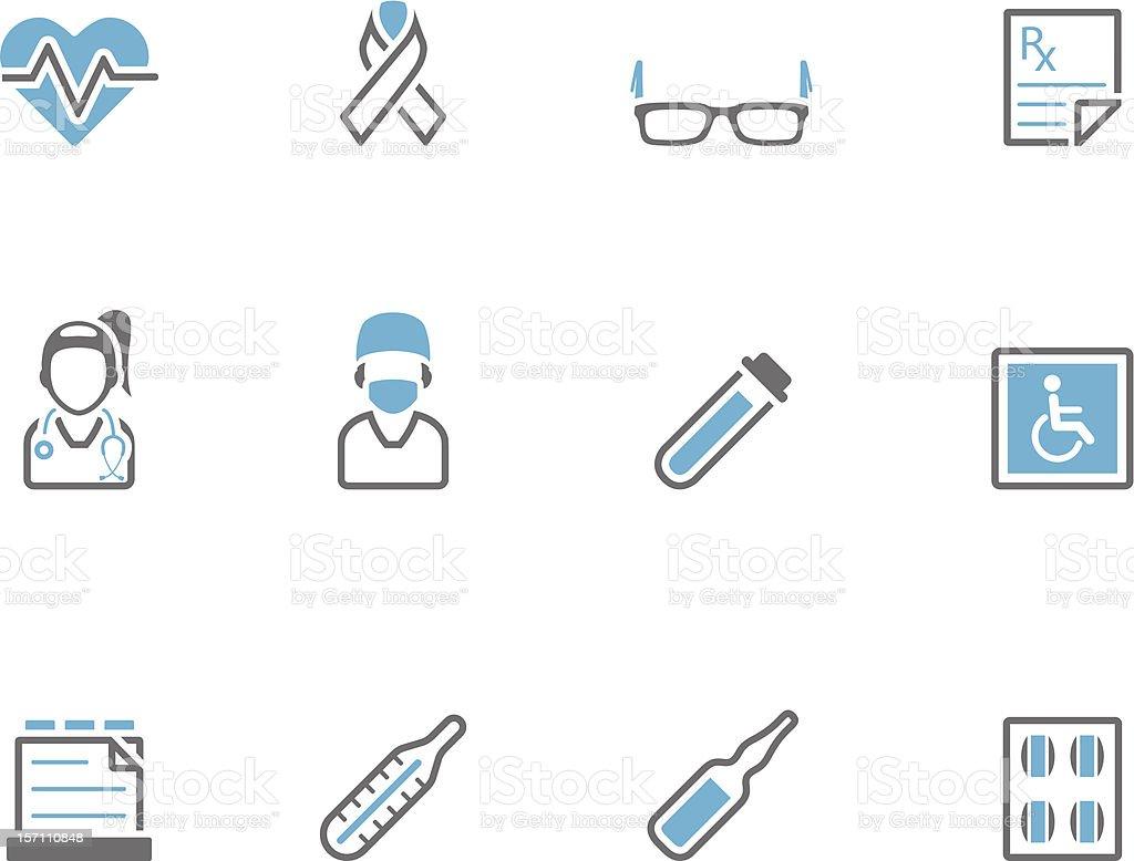 Duotone Icons - Medical 3 vector art illustration