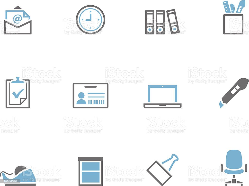 Duotone Icons - More Office vector art illustration