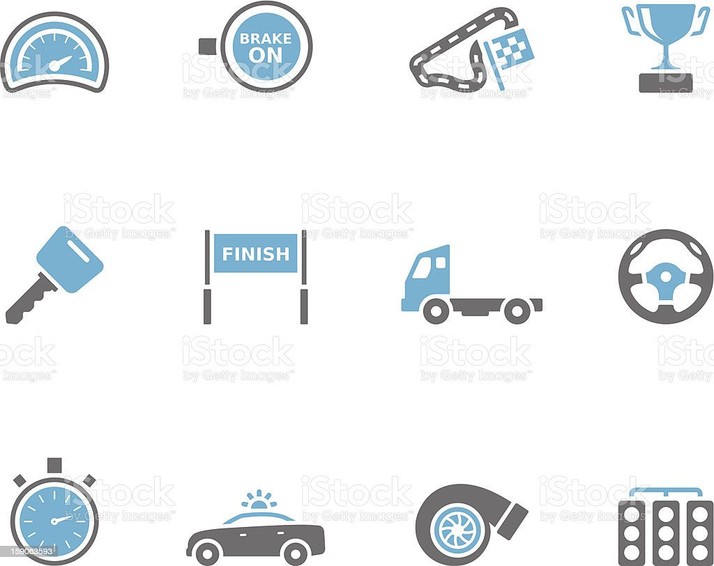 Duotone Icons - More Racing royalty-free stock vector art