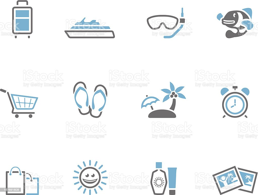 Duotone Icons - More Travel royalty-free stock vector art