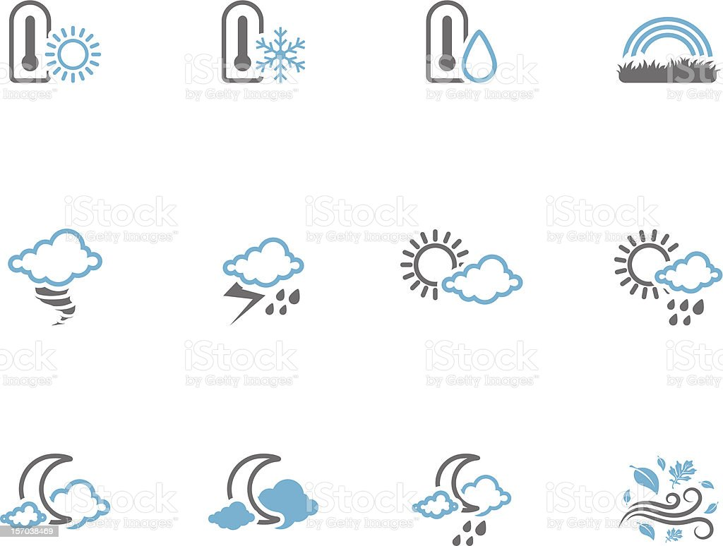 Duotone Icons - More Weather royalty-free stock vector art