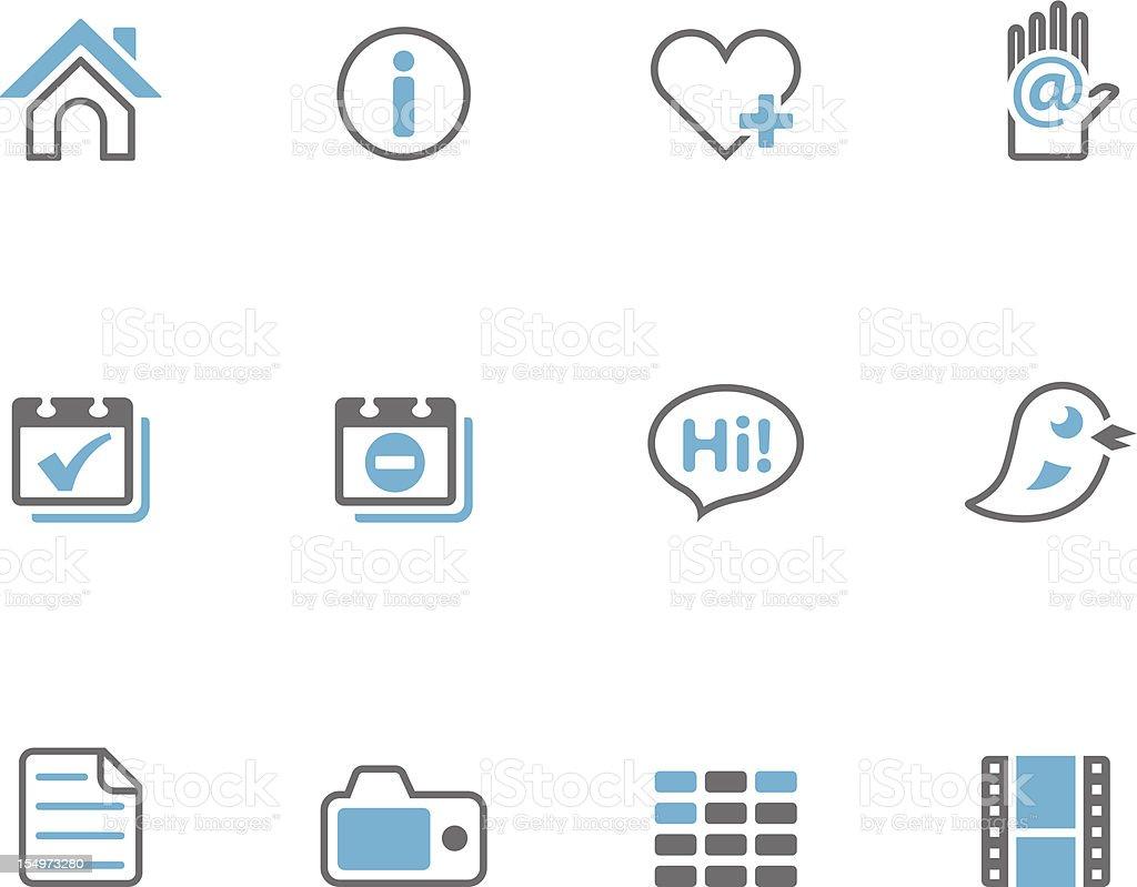 Duotone Icons - Portfolio royalty-free stock vector art